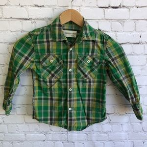 TUCKER + TATE Button Down Plaid Shirt Size 4T
